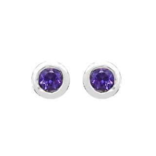 Sterling Silver 1/4ct TGW Amethyst Earring