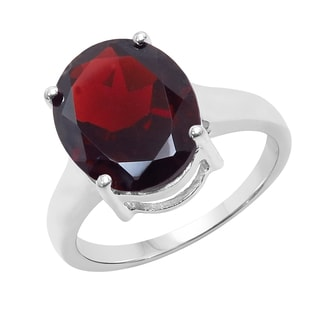 Sterling Silver 5 5/8ct TGW Garnet Ring