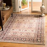 Safavieh Lavar Kerman Cream/ Navy Cotton Rug - 9' x 12'