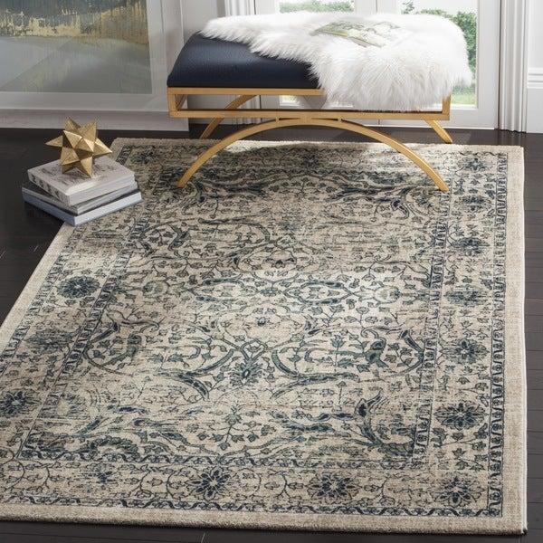 Safavieh evoke vintage oriental beige blue distressed rug 8 39 x 10 39 free shipping today - Decor discount montelimar ...
