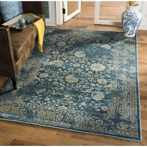 Safavieh Evoke Vintage Oriental Light Blue/ Beige Distressed Rug (9' x 12')