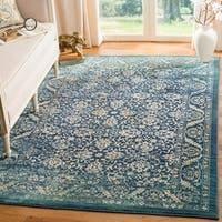Safavieh Evoke Vintage Oriental Navy Blue/ Gold Distressed Rug (8' x 10')