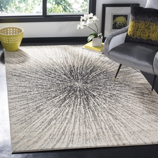 Safavieh Evoke Nova Abstract Burst Black/ Ivory Rug - 8' x 10'