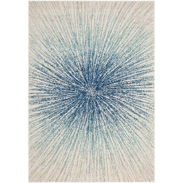 Safavieh Evoke Vintage Abstract Burst Royal Blue Ivory