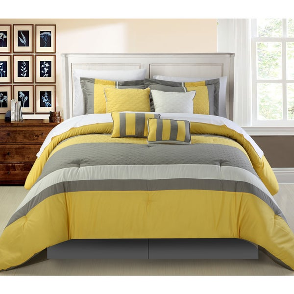 Chic Home Delmonte Yellow 8-Piece Comforter Set