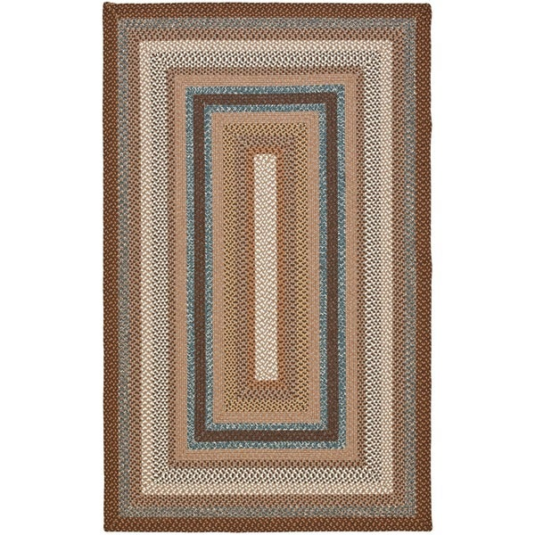 Safavieh Hand-woven Braided Brown/ Multi Rug - 10' x 14'