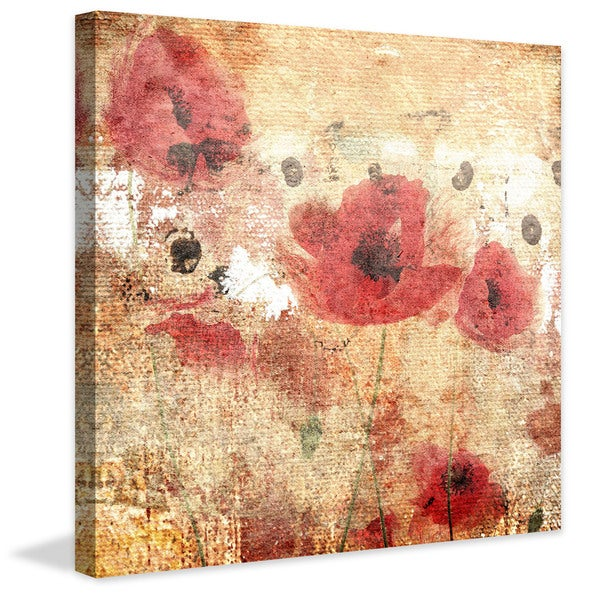 Marmont Hill - Sunset Poppy Field I by Jorgensen Painting Print on Canvas - Multi-color