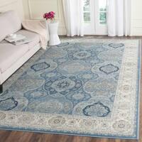 "Safavieh Persian Garden Vintage Light Blue/ Ivory Distressed Silky Viscose Rug - 6'7"" x 9'2"""