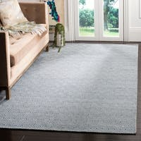 Safavieh Hand-woven Oasis Blue/ Ivory Wool Rug - 6' x 9'
