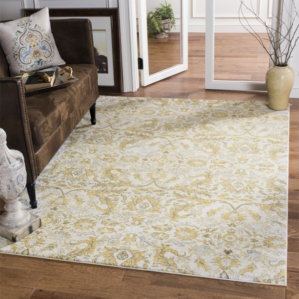 Shop Safavieh Evoke Vintage Ivory Gold Distressed Rug