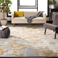 "Safavieh Evoke Vintage Floral Grey / Gold Distressed Rug - 5'1"" x 7'6"""