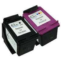 Sophia Global Ink Cartridge Replacements for HP 63XL (1 Black, 1 Color) (Remanufactured)