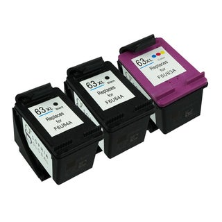 Sophia Global Ink Cartridge Replacements for HP 63XL (2 Black, 1 Color) (Remanufactured)