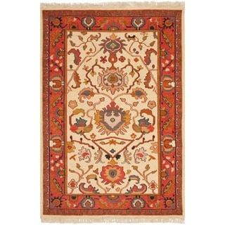 Safavieh Hand-woven Sumak Ivory/ Rust Wool Rug (4' x 6')