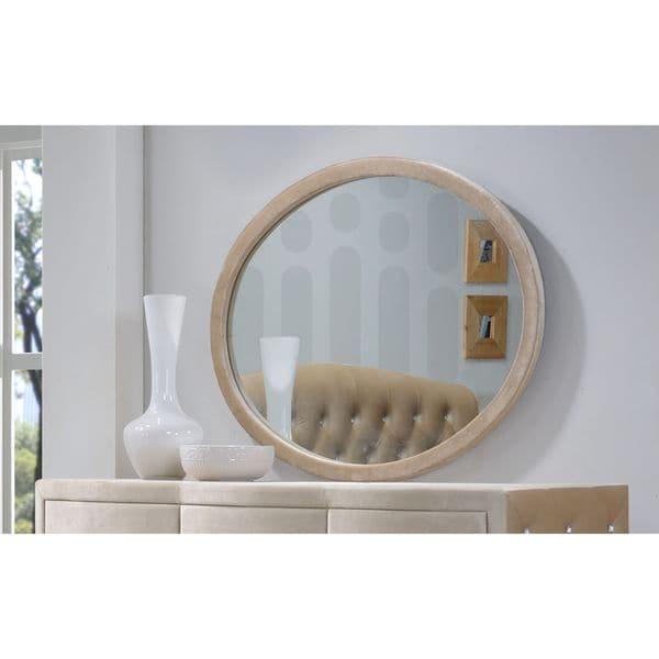 Meridian Furniture Diamond Velvet Covered Mirror