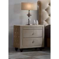 Meridian Furniture Diamond Velvet Tufted Upholstered Nightstand