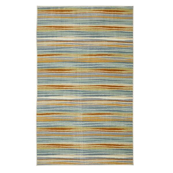 Mohawk Home Aurora Confetti Stripes Cream 5 X 8 Free