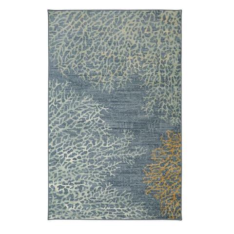 Porch & Den Flynn Coral Reef Multi Rug - Blue/Yellow - 5' x 8'