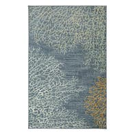 Porch & Den Flynn Coral Reef Multi Rug - Blue/Yellow - 5' x 8'