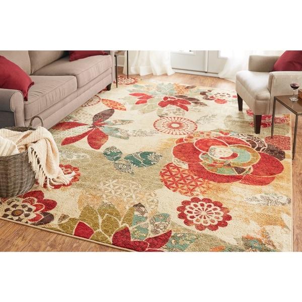 Mohawk Home Strata Geo Floral Pattern Multi (5' x 8')