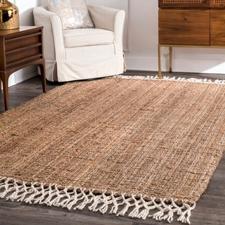 The Gray Barn Antelope Springs Chunky Jute and Wool Tassel Rug - 6' x 9'