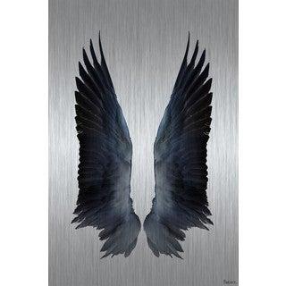 Parvez Taj - Black Wings Painting Print on Brushed Aluminum