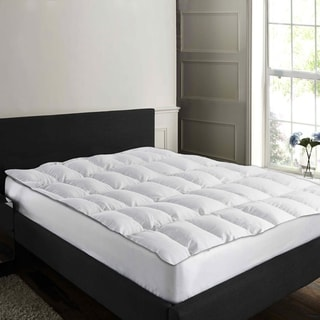Link to 233 Thread Count Cotton Duck Feather Mattress Topper - White Similar Items in Mattress Pads & Toppers