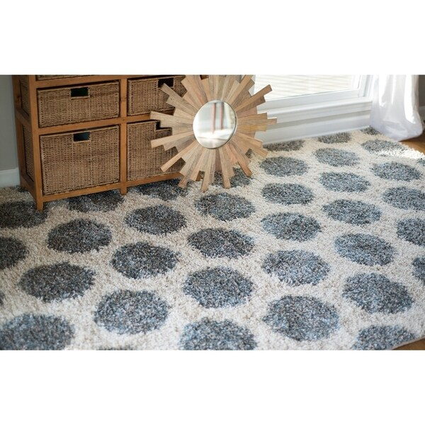 Mohawk Home Huxley Mystic Dots Bay Blue (5' x 8') - 5' x 8'