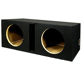 Dual Car Black Subwoofer Box Ported Automotive Enclosure for Two 10-inch Woofers