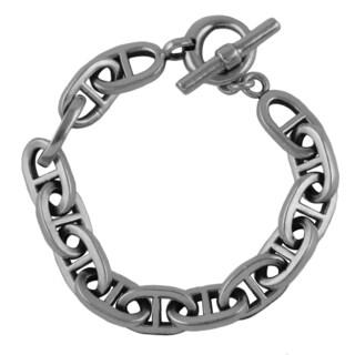 Sterling Silver Anchor Link Chain Bracelet
