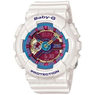 Casio Baby-G BA112-7ACR Women's Analog-Digital White Resin Watch