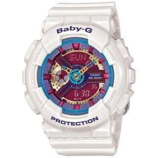Casio Baby-G BA112-7ACR Women's Analog-Digital White Resin Watch|https://ak1.ostkcdn.com/images/products/10979630/P18002175.jpg?impolicy=medium