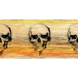Parvez Taj - Yellow Skull Painting Print on Canvas