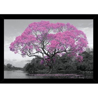 Blossom Tree Print with Contemporary Poster Frame (36 x 24)