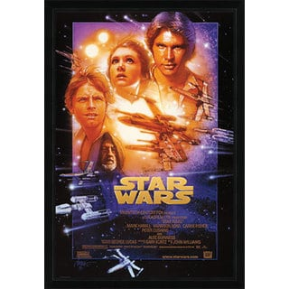 Star Wars Episode 4 Print with Traditional Black Wood Frame (22 x 34)