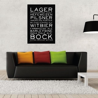 Beer Styles Print with Traditional Black Wood Frame (24 x 36)