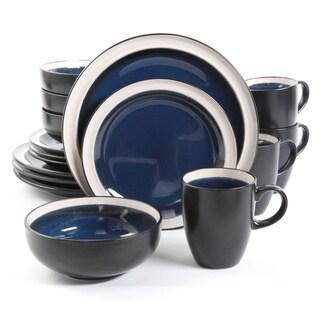 Central Ridge Cobalt 16-piece Dinnerware Set