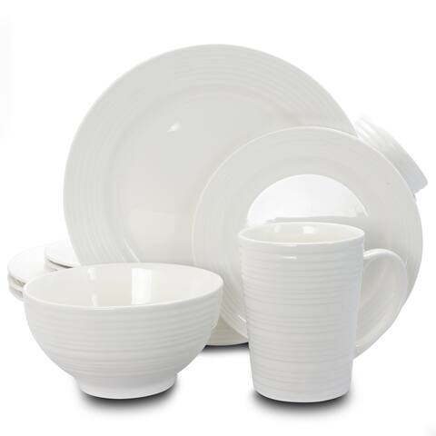Amelia Court White 16-piece Dinnerware Set