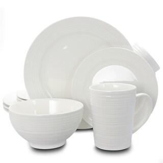 Amelia Court White 16-piece Dinnerware Set