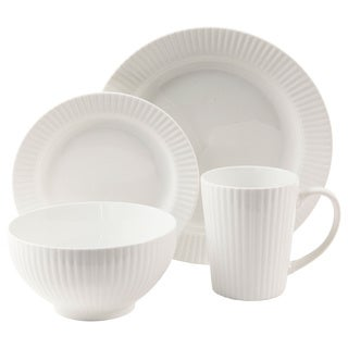 Josephine White 16-piece Dinnerware Set