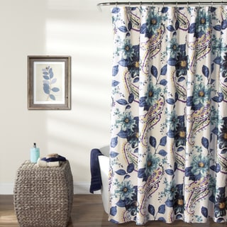 Lush Decor Floral Paisley Shower Curtain