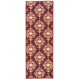 Sweet Home Red Damask Design Mat Doormat Rug (1'8 x 4'11)