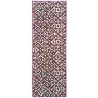 Sweet Home Brown Damask Design Mat Doormat Rug (1'8 x 4'11)