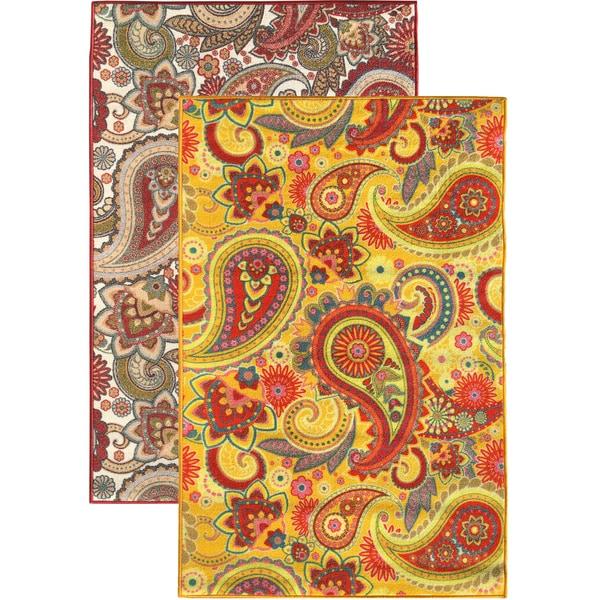 Sweet Home Paisley Design Mat Doormat Rug 2 3 X 6