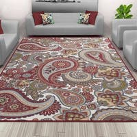 Sweet Home Stores Paisley Design Area Rug - 3'3 x 4'7