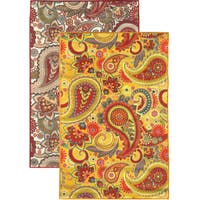 Sweet Home Paisley Design Mat Doormat Rug (5'0 x 6'6)