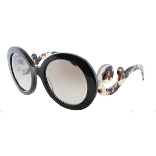 Prada Women's PR 27NS UAO4O0 Brown Round Minimal-Baroque Sunglasses