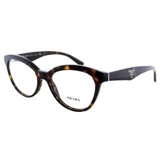 Prada Women's PR 11RV 2AU1O1 Havana Plastic Cat Eye 52mm Eyeglasses