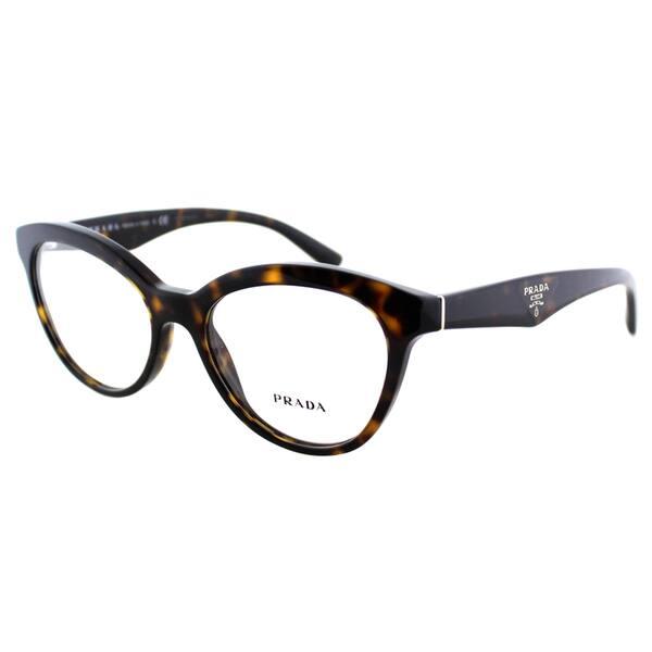 d3eefc6d5fea Prada Women s PR 11RV 2AU1O1 Havana Plastic Cat Eye 52mm Eyeglasses ...