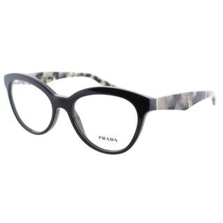 Prada Women's PR 11RV TFN1O1 Grey On Opal Grey 52mm Cat Eye Eyeglasses